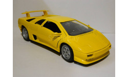 Lamborghini Diablo Yellow Bburago - без коробки 1:18, масштабная модель, 1/18