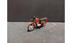 Иж 'Планета 5' мотоцикл - красный - 1/43, масштабная модель мотоцикла, Юный коллекционер ( +доработка), 1:43