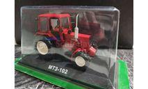 МТЗ-102 трактор колесный универсально-пропашной - красный - №103 с журналом 1:43, масштабная модель, Тракторы. История, люди, машины. (Hachette collections), scale43