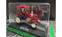 МТЗ-102 трактор колесный универсально-пропашной - красный - №103 с журналом 1:43