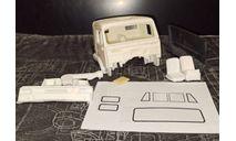 Кабина 65116 рестайл неокрашенная- отдельная облицовка - комплект 1/43, масштабная модель, КамАЗ, ALPA models, scale43