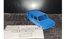 Кузов ваз-2131 нива неокрашенный - со стеклами 1/43, масштабная модель, ALPA models, scale43