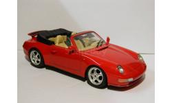 Porsche Carrera 911 (1993) Bburago - без коробки 1:18, масштабная модель, scale18