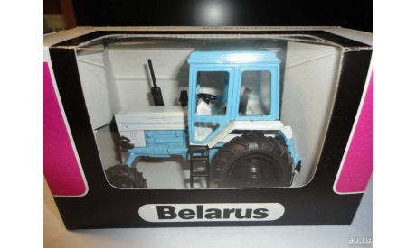Трактор МТЗ-82 Belarus (белый/светло-голубой) Тантал, масштабная модель, scale43