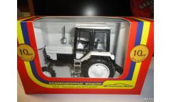 Трактор МТЗ-82 Belarus 'Люкс' (чёрно-белый) Тантал, масштабная модель, 1:43, 1/43