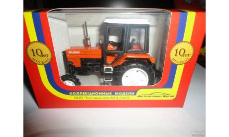 Трактор МТЗ-82 Belarus 'Люкс' (чёрно-оранжевый, с белой крышей) Тантал, масштабная модель, Агат/Моссар/Тантал, 1:43, 1/43