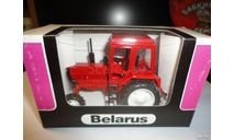 Трактор МТЗ-82 Belarus (полностью красный) Тантал, масштабная модель, Агат/Моссар/Тантал, 1:43, 1/43