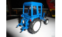 Трактор МТЗ-82 Belarus (полностью синий) Тантал, масштабная модель, scale43