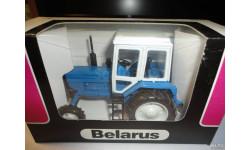 Трактор МТЗ-82 Belarus (синий, кабина белая) Тантал, масштабная модель, 1:43, 1/43