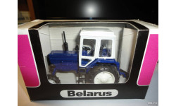 Трактор МТЗ-82 Belarus (темно-синий, кабина белая) Тантал, масштабная модель, scale43