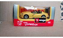 Dodge Viper RT/10, масштабная модель, Bburago, scale43