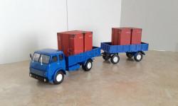МАЗ-5335 с прицепом (Max-Models) и контейнерами(DIP) ...