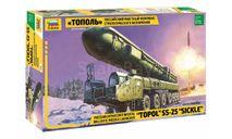 Сборная модель Российский ракетный комплекс стратегического назначения 'Тополь', сборные модели бронетехники, танков, бтт, Звезда, scale72