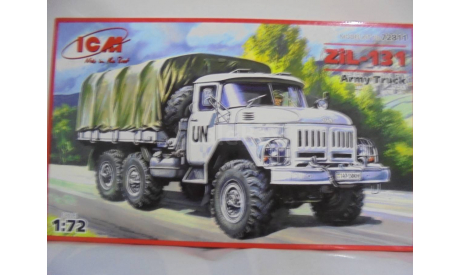 Сборная модель ЗИL-131 Армейский грузовой автомобиль, сборные модели бронетехники, танков, бтт, ICM, scale72