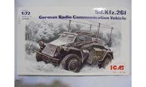 Сборная модель Sd.Kfz.261- германский бронеавтомобиль радиосвязи, сборная модель автомобиля, ICM, scale72