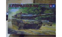 35271 Tamiya 1/35 Leopard 2A6 Main Battle Tank Немецкий основной танк Леопард, 2001г., с тремя фигурами танкистов., сборные модели бронетехники, танков, бтт, scale35