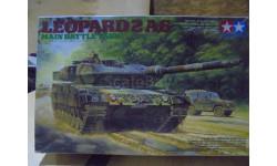 35271 Tamiya 1/35 Leopard 2A6 Main Battle Tank Немецкий основной танк Леопард, 2001г., с тремя фигурами танкистов.