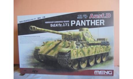 Сборная модель Немецкий средний танк Sd. Kfz. 171 Panther ausf. D, сборные модели бронетехники, танков, бтт, Meng, 1:35, 1/35