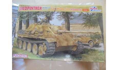 Сборная модель Немецкая САУ JAGDPANTHER Ausf.Gl ранняя с циммеритом, сборные модели бронетехники, танков, бтт, Dragon, 1:35, 1/35