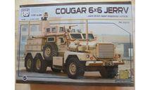 Сборная модель Американский бронеавтомобиль Cougar 6x6 MRAP JERRV, сборные модели бронетехники, танков, бтт, бронемобиль, Panda Hobby, 1:35, 1/35