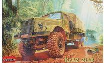 Сборная модель Советский грузовой автомобиль КрАЗ-214Б, сборные модели бронетехники, танков, бтт, Roden, scale35