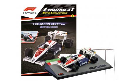 Formula 1 Auto Collection №6 - Toleman TG184 - Айртон Сенна (1984), журнальная серия масштабных моделей, Centauria, scale43