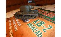 №11 КВ-2, журнальная серия Русские танки (GeFabbri) 1:72, scale72