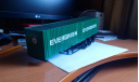 Полуприцеп-контейнеровоз МАЗ-938920 с контейнерами EVERGREEN