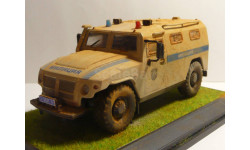ГАЗ-ТИГР-Милиция-ОМОН, масштабная модель, 1:43, 1/43, Конверсии мастеров-одиночек