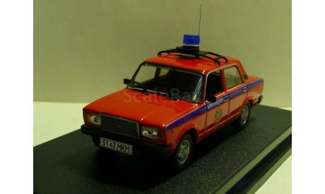 ВАЗ 2107 Милиция Москва  СССР, масштабная модель, 1:43, 1/43
