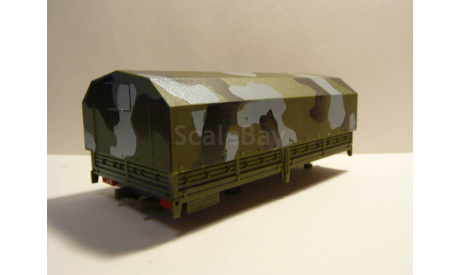 Кузов КАМАЗ 4320 с тентом ЭЛЕКОН, запчасти для масштабных моделей, scale43