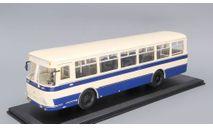 4002B ЛиАЗ 677 бежево-синий, масштабная модель, Classicbus, 1:43, 1/43