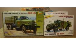 ЗиС - 151 (6x6) + Бронетранспортер M 3 -- Скаут -- = Звезда = 1-35 Скидка 13 % от цены на аукционе, сборная модель автомобиля, 1:35, 1/35