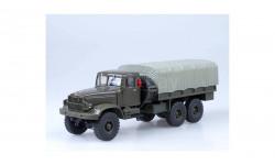 КРАЗ 214Б темно-зеленый / серый тент НАП, масштабная модель, 1:43, 1/43, Наш Автопром