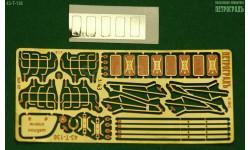 Набор на 2 ЗиЛ 131 с зеркалами и решётками, жёсткая латунь   фототравление