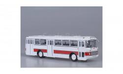 Икарус 556 бело-красный СОВА, масштабная модель, 1:43, 1/43, Советский Автобус, Ikarus