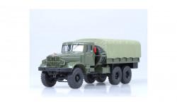 КРАЗ 214Б зеленый / зеленый тент НАП, масштабная модель, 1:43, 1/43, Наш Автопром