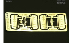 Набор солнцезащитных козырьков для МАЗ-500/5335   фототравление
