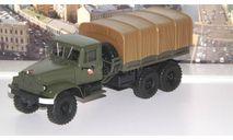 КРАЗ 214В Балластный тягач с тентом, хаки  НАП, масштабная модель, 1:43, 1/43, Наш Автопром
