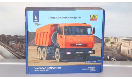Сборная модель Самосвал КАМАЗ-65115   AVD Models KIT, масштабная модель, 1:43, 1/43