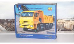 Сборная модель КАМАЗ-6540 8x4 самосвал (рестайлинг)   AVD Models KIT, масштабная модель, 1:43, 1/43, Автомобиль в деталях (by SSM)