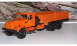 КрАЗ 257 Б1 бортовой, (оранжевый) АИСТ, масштабная модель, 1:43, 1/43, Автоистория (АИСТ)
