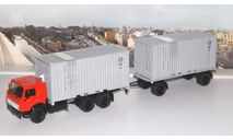 КАМАЗ-53212 контейнеровоз с прицепом ГКБ-8350  SSM, масштабная модель, Start Scale Models (SSM), scale43