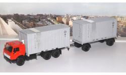 КАМАЗ-53212 контейнеровоз с прицепом ГКБ-8350  SSM