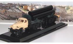 ЗИЛ 157К/ТВ-5 тягач с роспуском для перевозки труб большого диаметра, бежевая кабина   DiP
