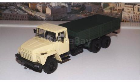 КРАЗ 250 бортовой (1977-1989), бежевый / зеленый НАП, масштабная модель, 1:43, 1/43, Наш Автопром