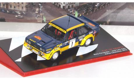 FIAT 131 Abarth №1 Rally Catalunya (Beny Fernandez - Jose Luis Sala) 1979, журнальная серия масштабных моделей, 1:43, 1/43, Altaya Rally