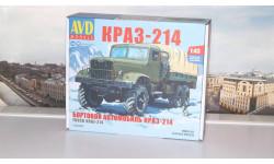 Сборная модель КРАЗ-214 бортовой с тентом  AVD Models KIT