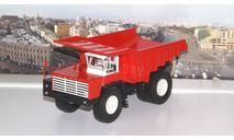БелАЗ-548 самосвал, красный / белый    НАП, масштабная модель, Наш Автопром, scale43