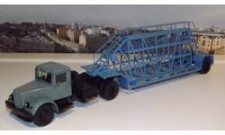 МАЗ 200В с полуприцепом НАМИ-790, (серый/голубой) АИСТ